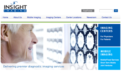 Insight Imaging Web Design