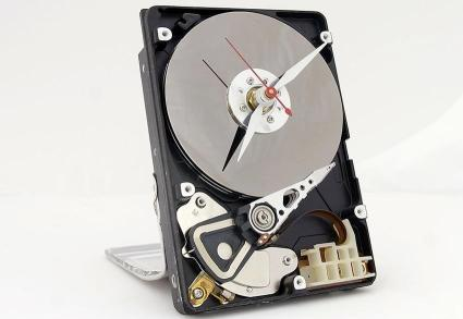 Recycled Computer Hard Drive Clock
