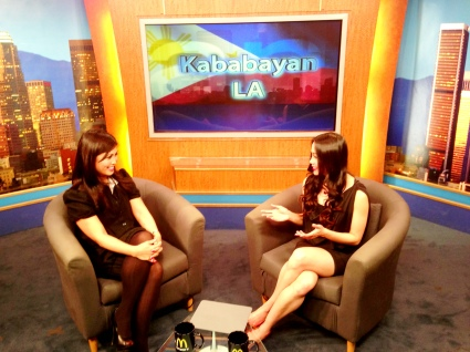 Kalika Yap on Kababayan LA, Channel 18
