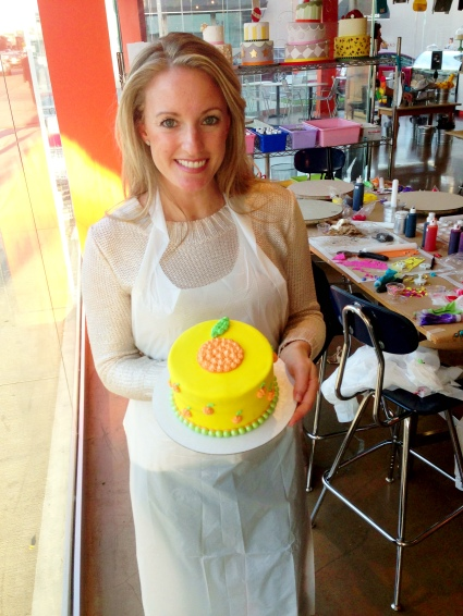 Erika with her citrusy cake !
