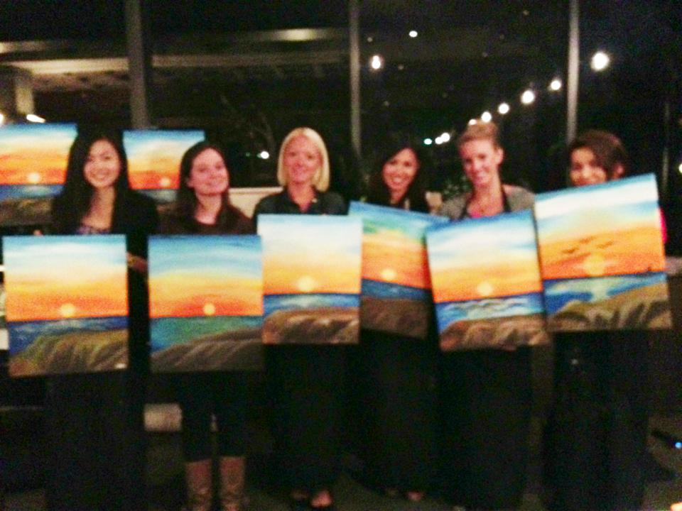 Wine and canvas citrus culture day for Canvas painting classes