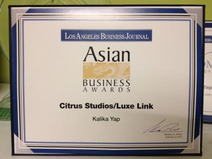 Kalika Yap Asian Business Awards Nomination