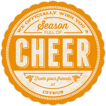 We officially wish you a season full of cheer!